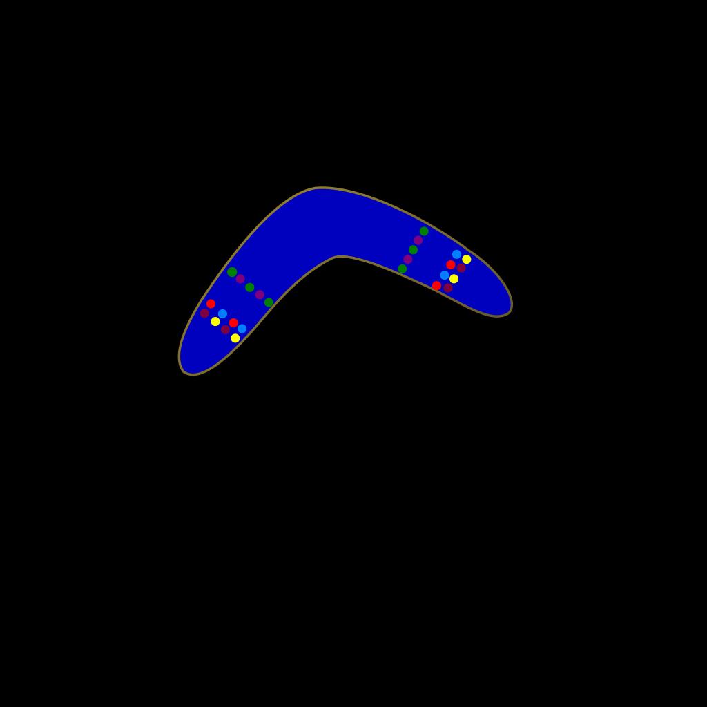 Blue Boomerang SVG Clip arts