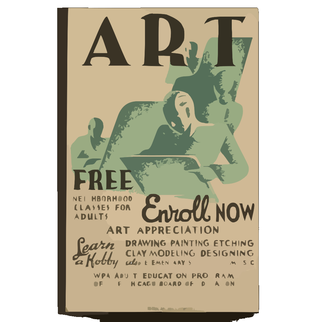 Art - Free Neighborhood Classes For Adults ... Enroll Now SVG Clip arts