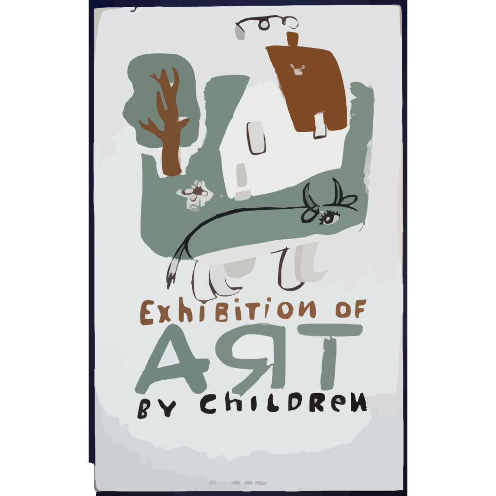 Exhibition Of Art By Children  / Osborn. SVG Clip arts
