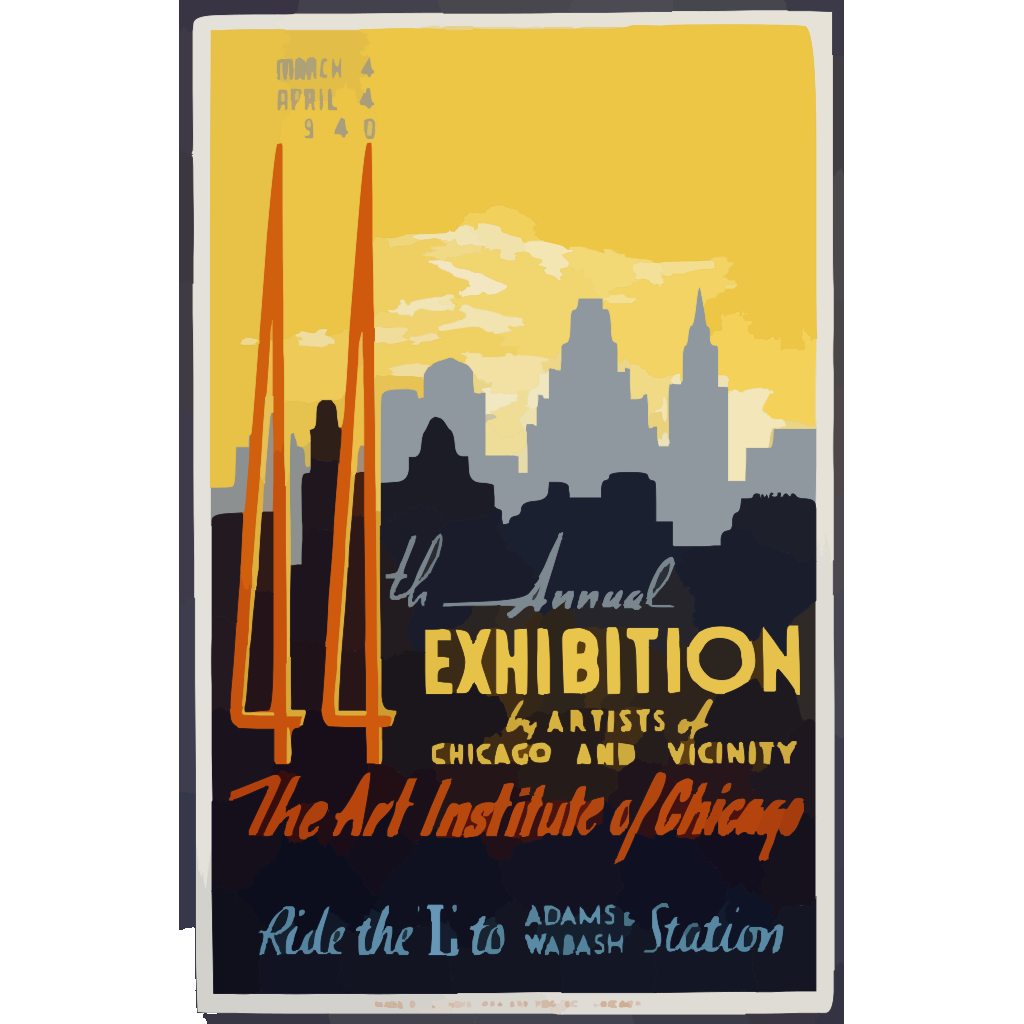 44th Annual Exhibition By Artists Of Chicago And Vicinity--the Art Institute Of Chicago  / Buczak. SVG Clip arts