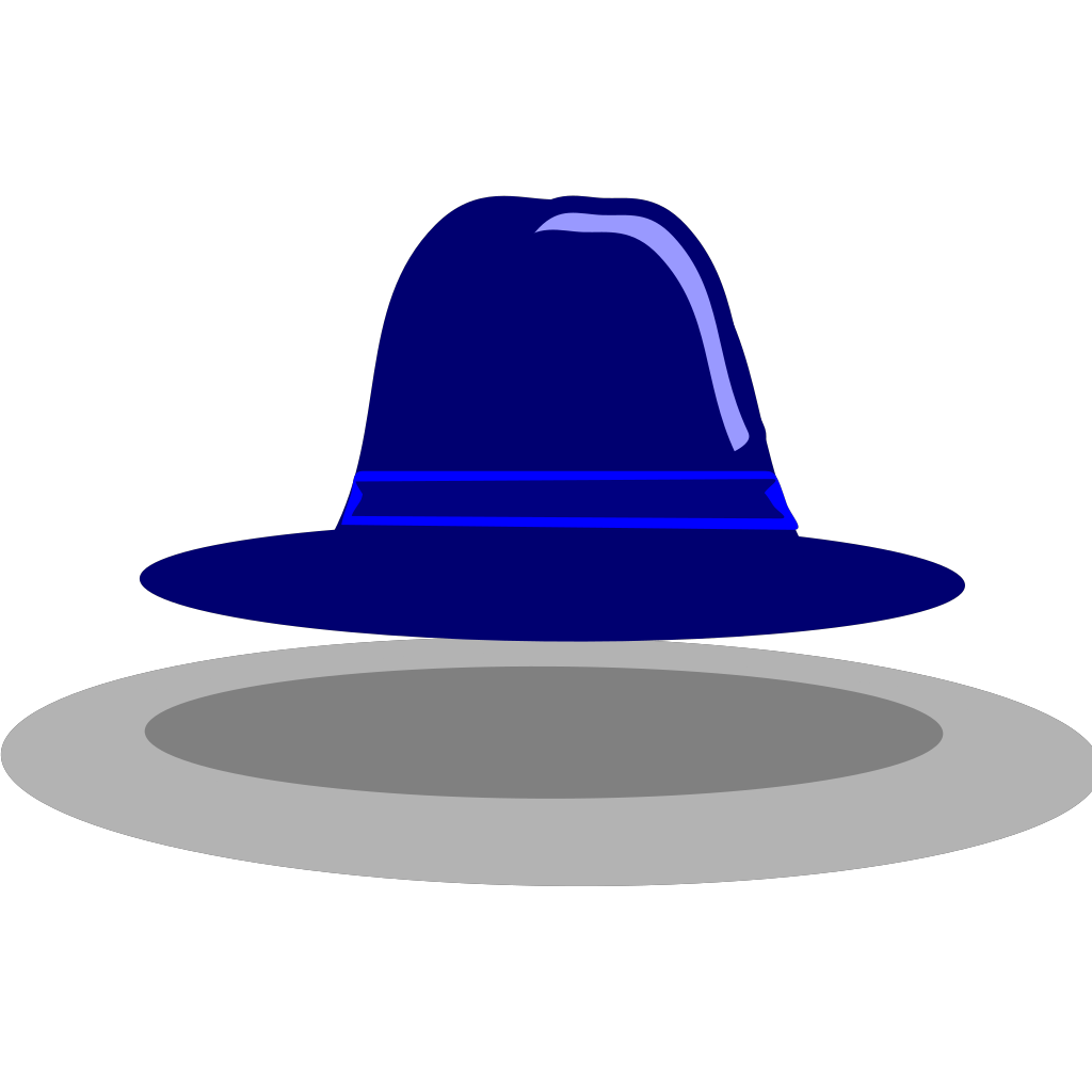 Blue Hat SVG Clip arts