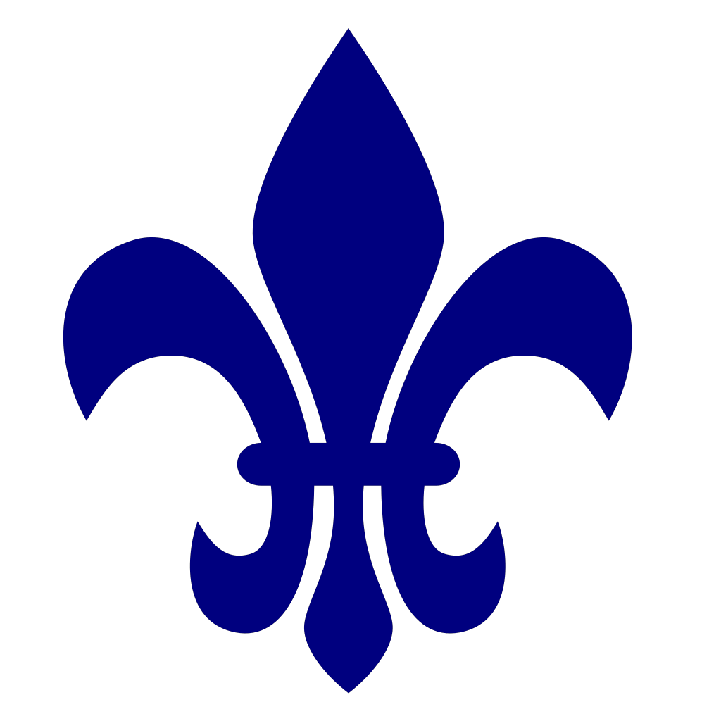 Royal Blue Fleur De Lis SVG Clip arts