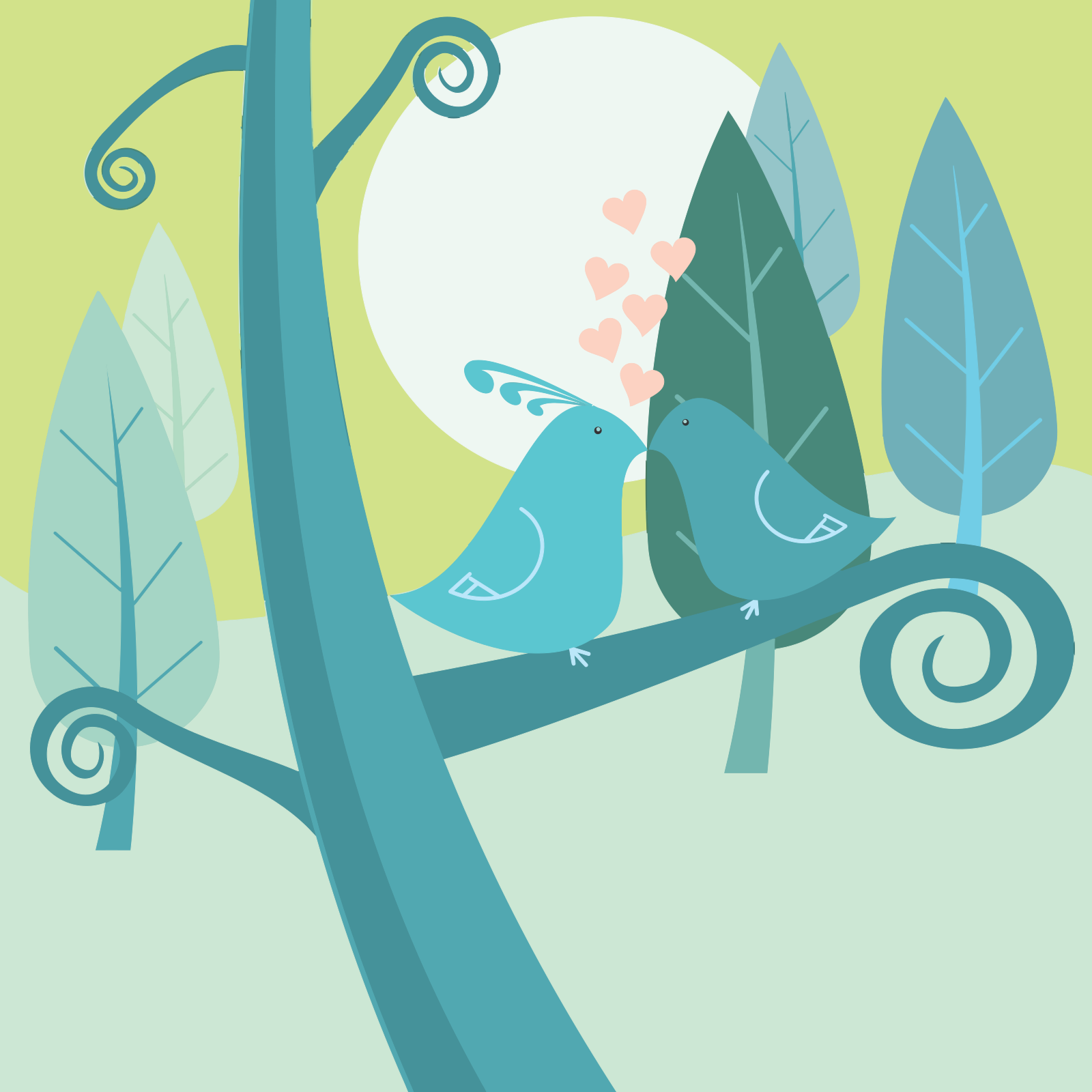 Birds Blue SVG Clip arts