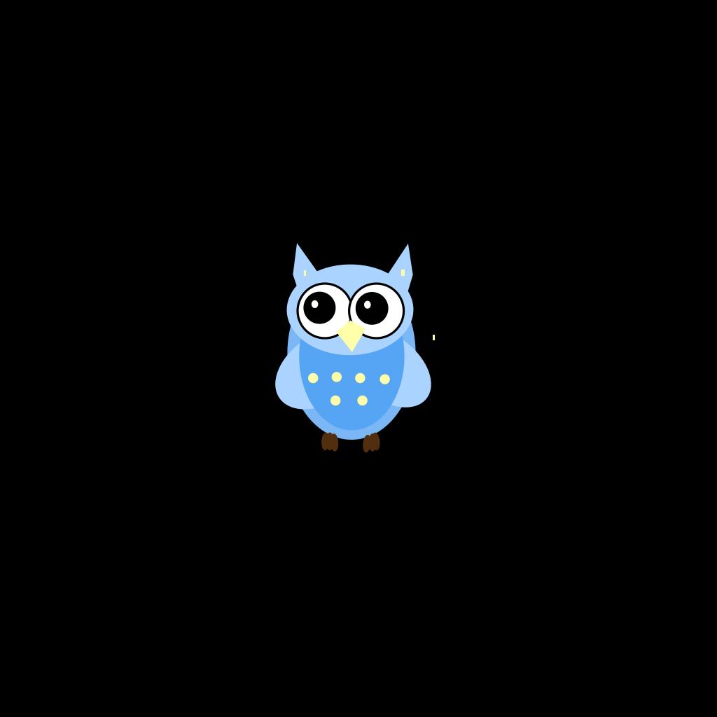 Blue Baby Owl SVG Clip arts