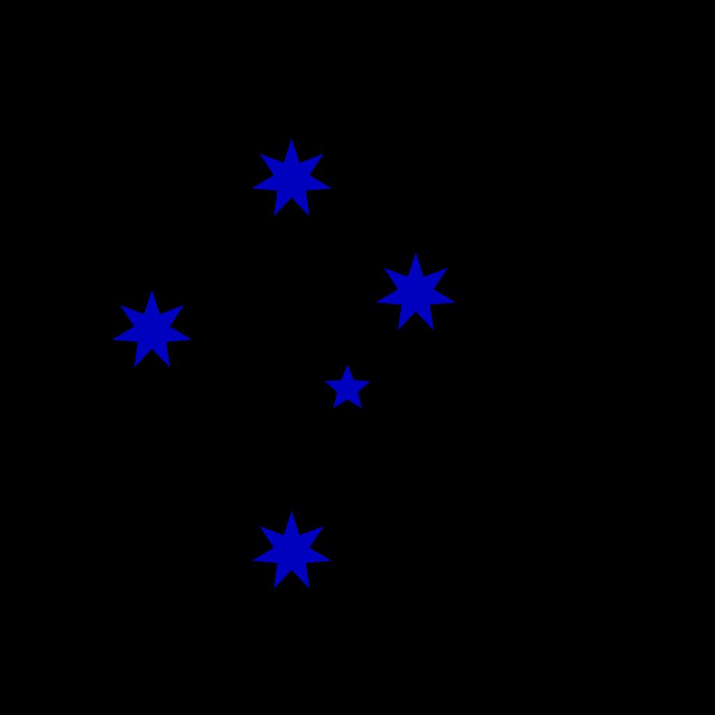Blue Southern Cross SVG Clip arts
