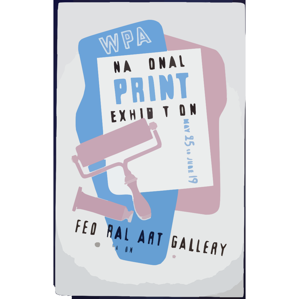 Wpa National Print Exhibition, Federal Art Gallery SVG Clip arts