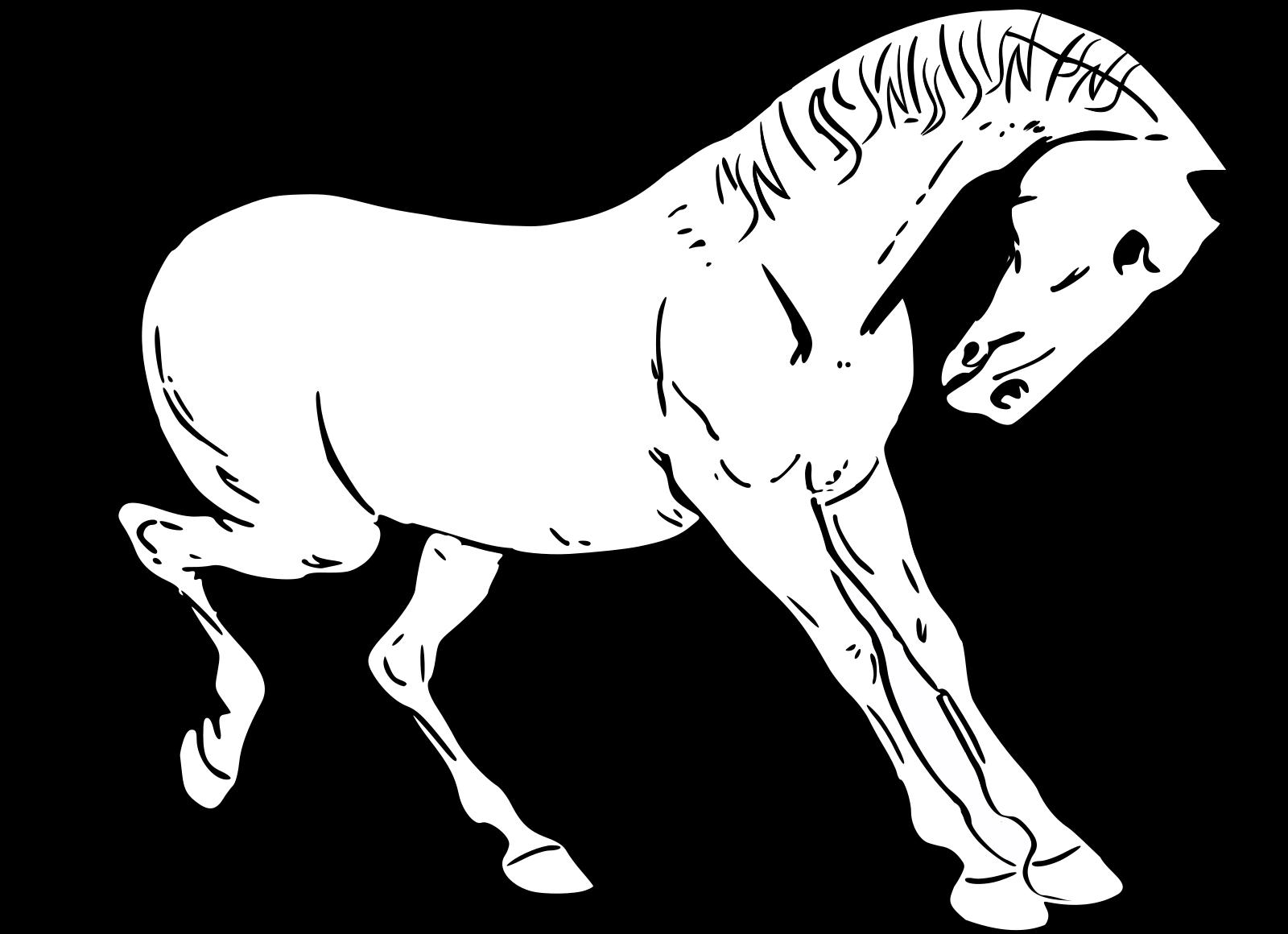 Blue Horse SVG Clip arts