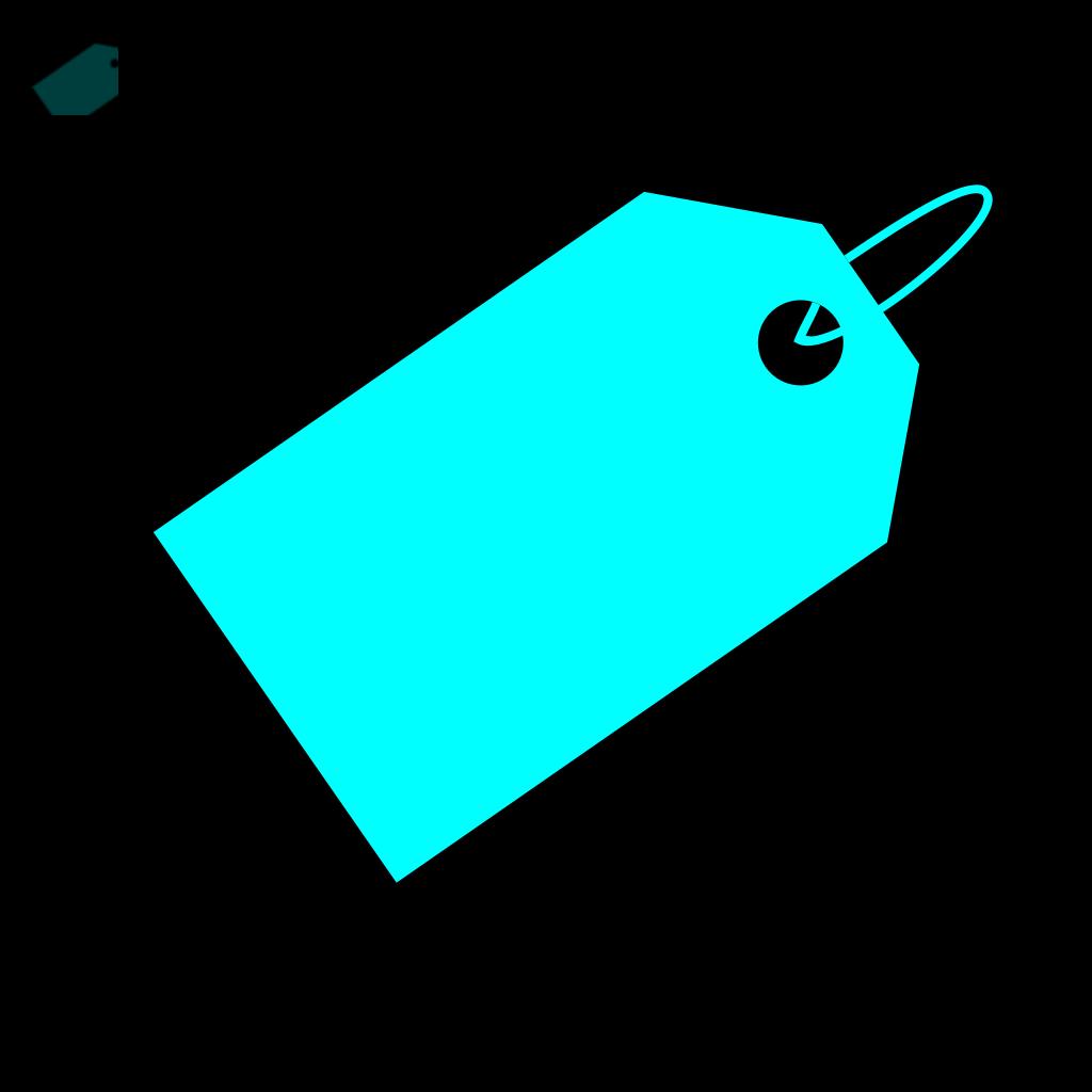 Aqua Tag SVG Clip arts