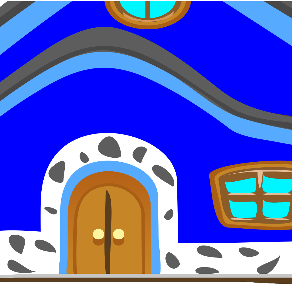 Casa Azul Blue House SVG Clip arts