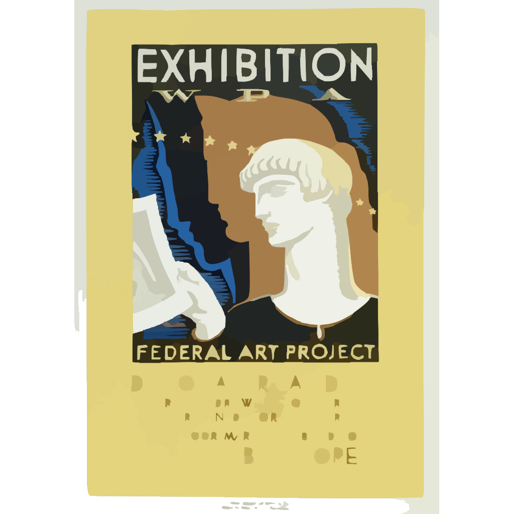 Exhibition Wpa Federal Art Project Index Of American Design / Milhous. SVG Clip arts