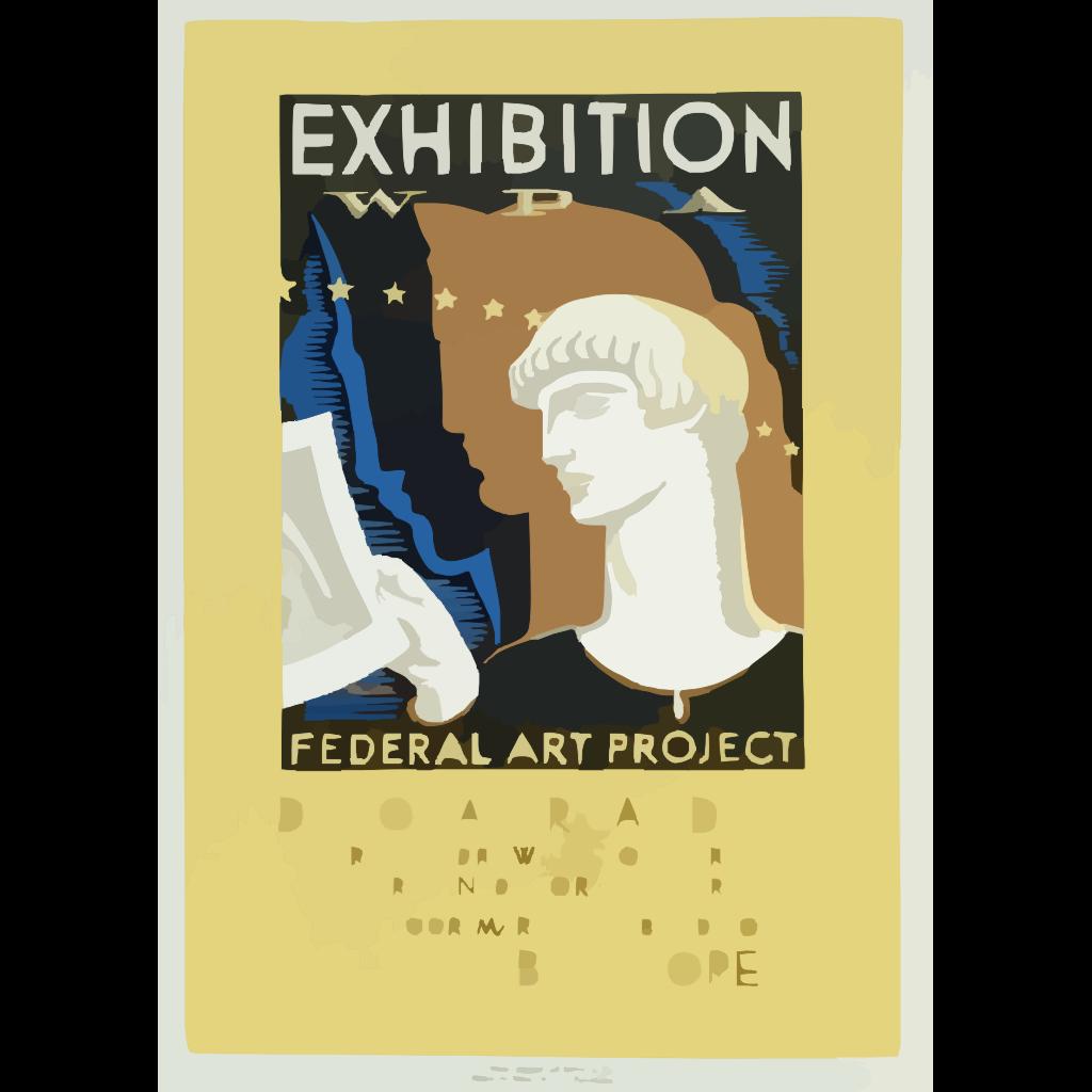 Exhibition Wpa Federal Art Project Index Of American Design / Milhous. SVG Clip arts