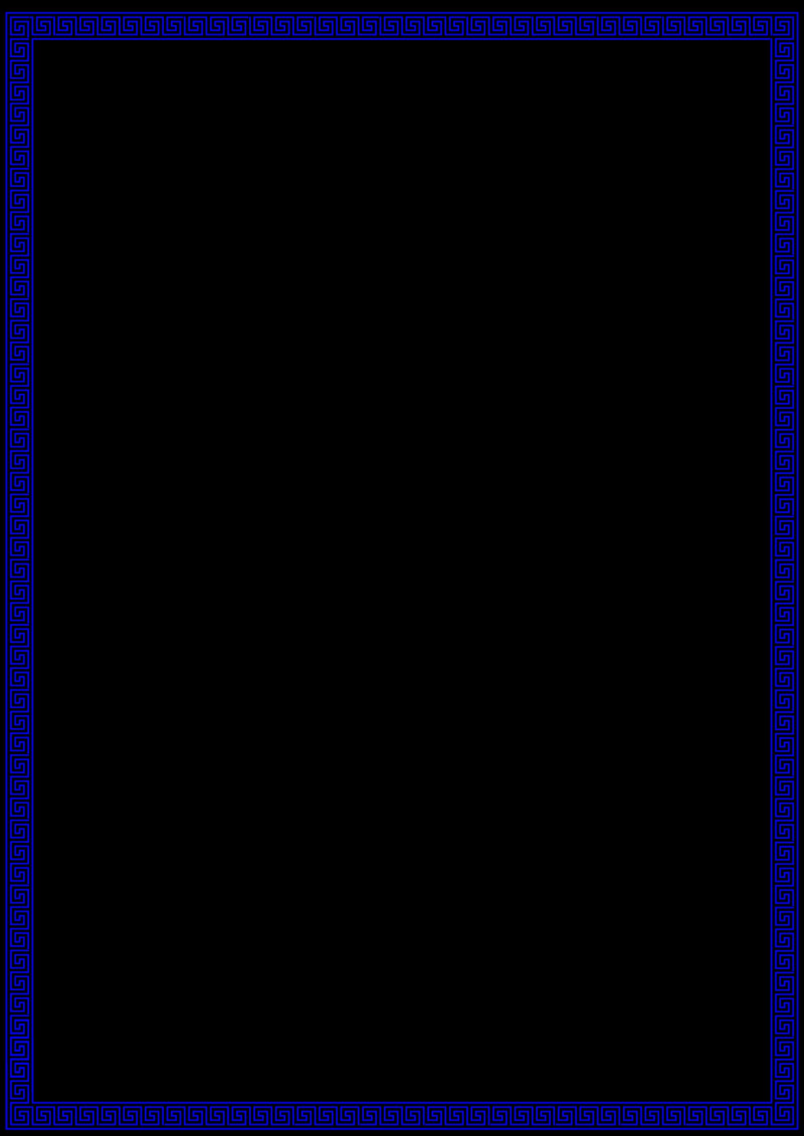 Blue Frame SVG Clip arts