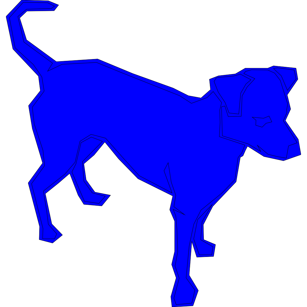 Dog Blue SVG Clip arts