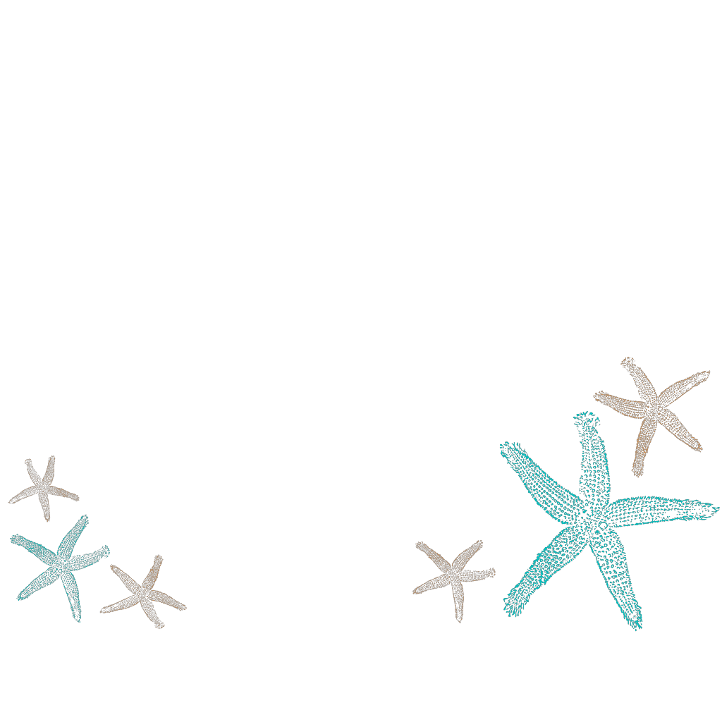 Starfish Prints SVG Clip arts
