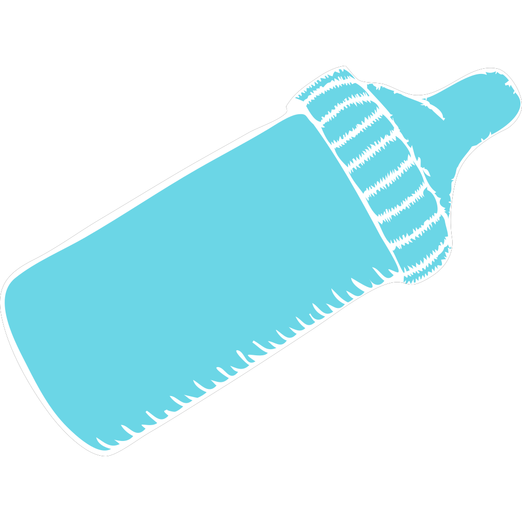 Baby Bottle Tiffany Blue SVG Clip arts