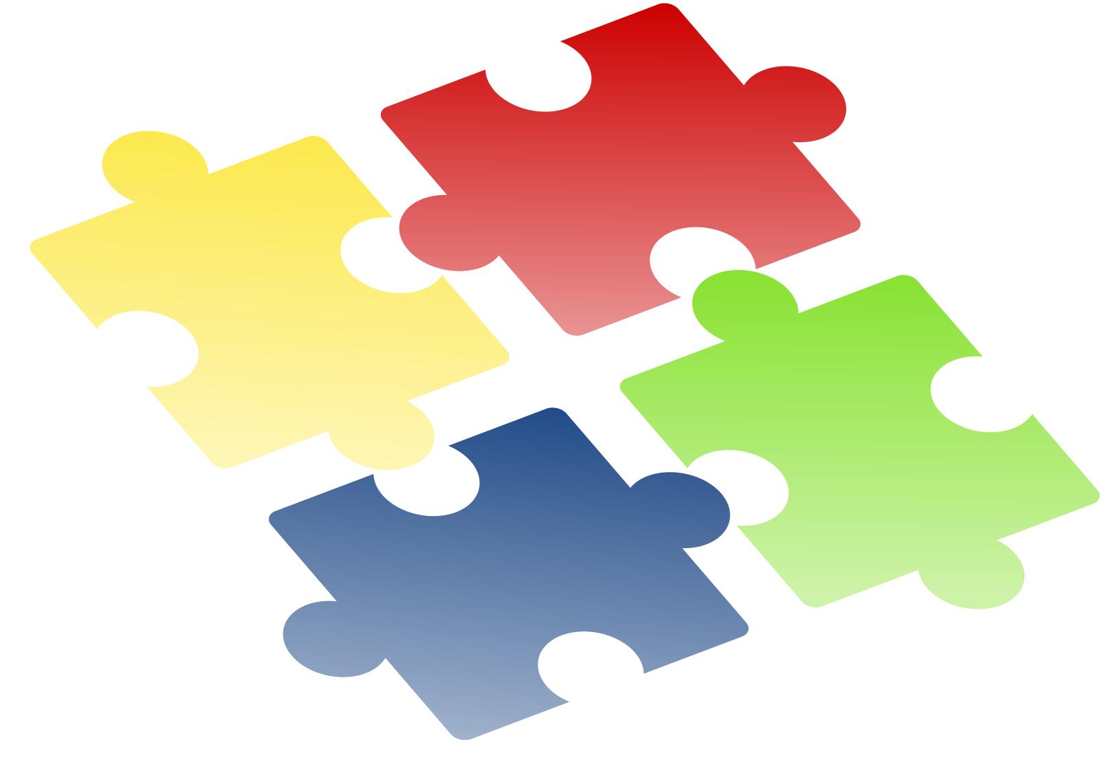 Jigsaw Blue SVG Clip arts
