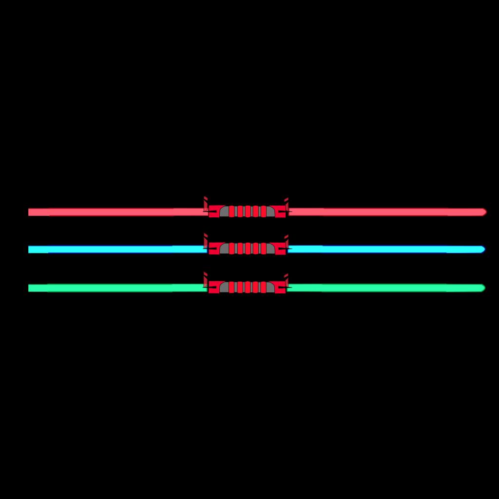 Lightsaber Double SVG Clip arts