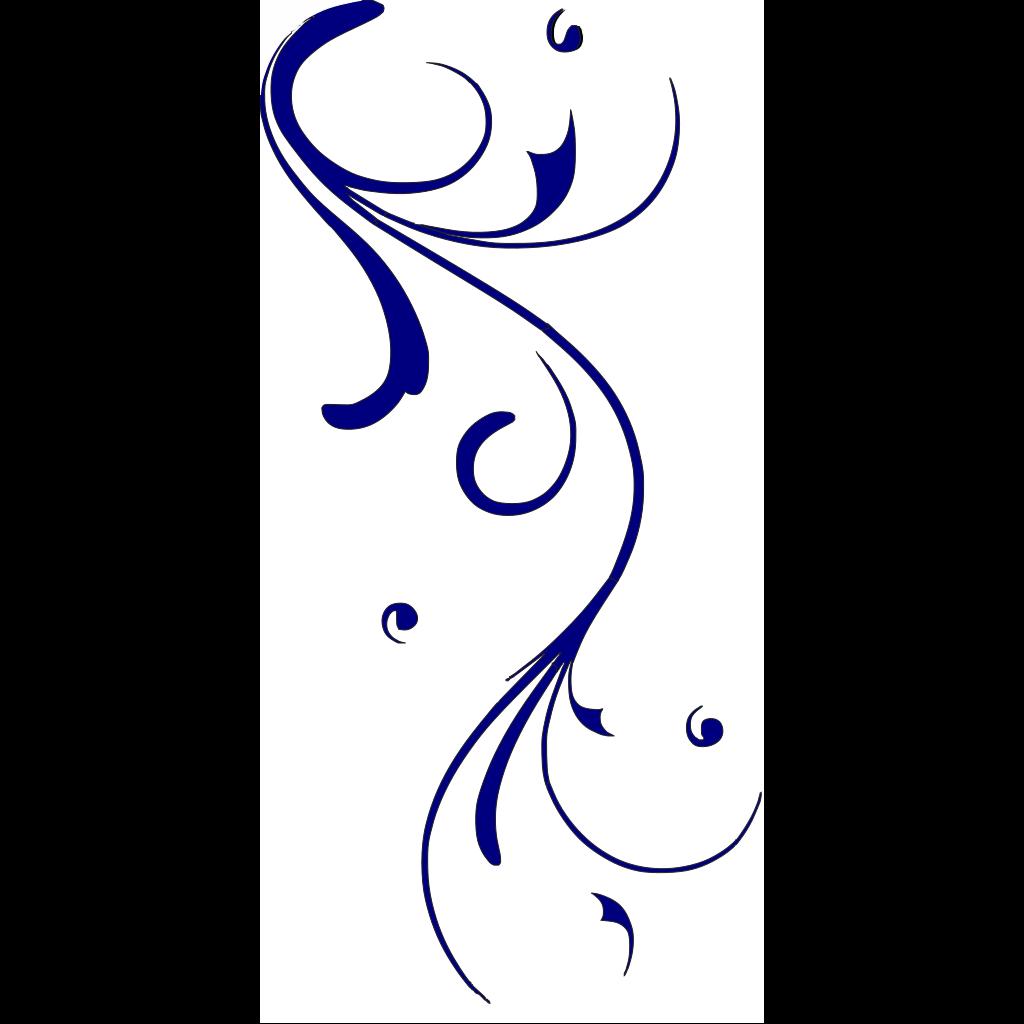 Blue Swirl SVG Clip arts