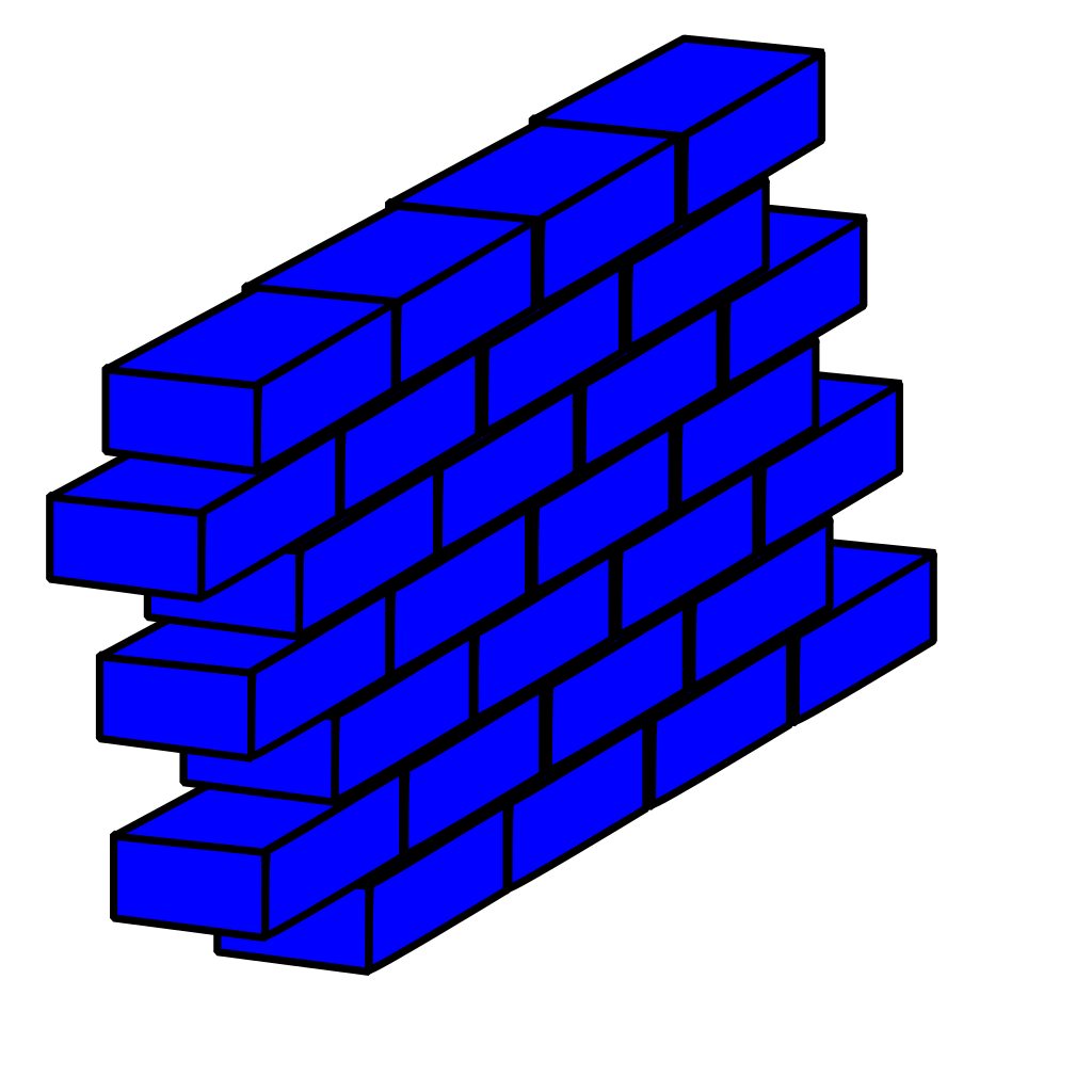 Blue Brick Wall SVG Clip arts