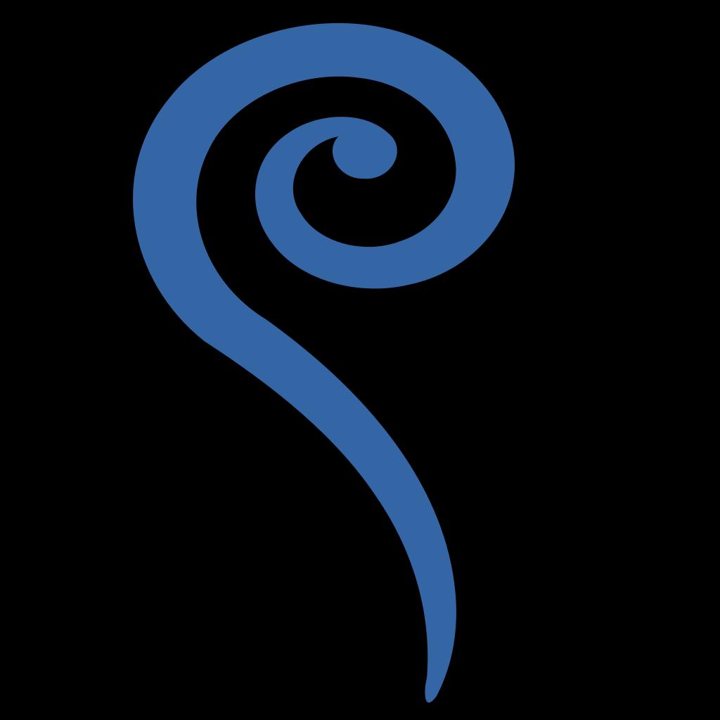 Big Blue Swirl SVG Clip arts