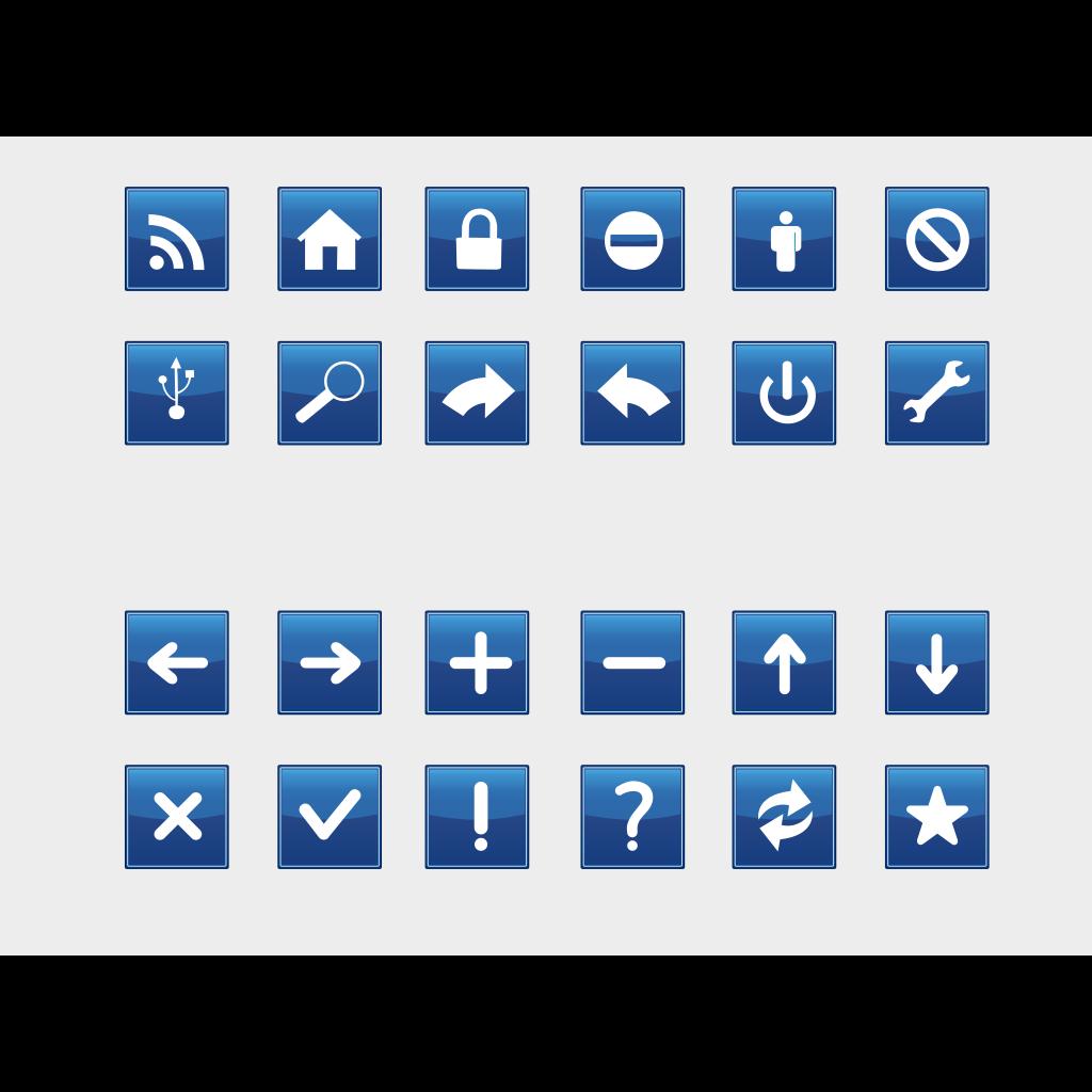 Blue Vote Sign SVG Clip arts