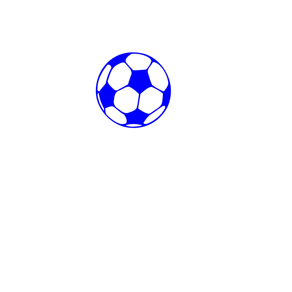 Blue Soccer Ball SVG Clip arts