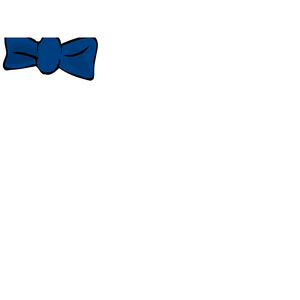 Blue Bow SVG Clip arts