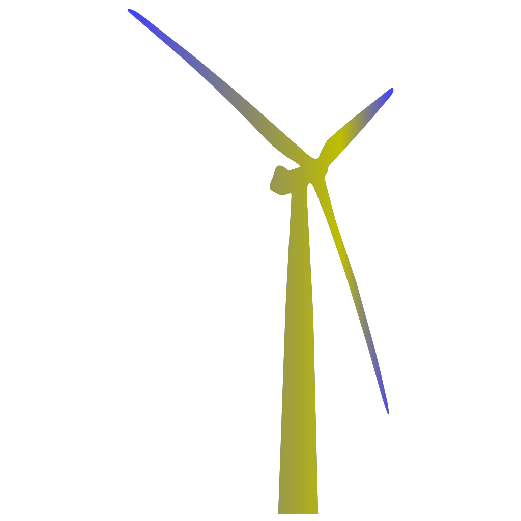 Wind Turbine Shaded Green And Blue SVG Clip arts