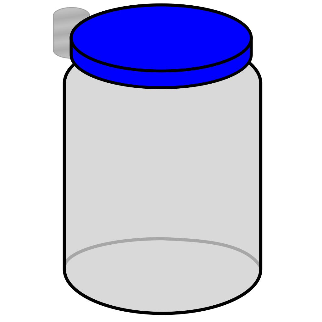 Jar With Blue Lid SVG Clip arts