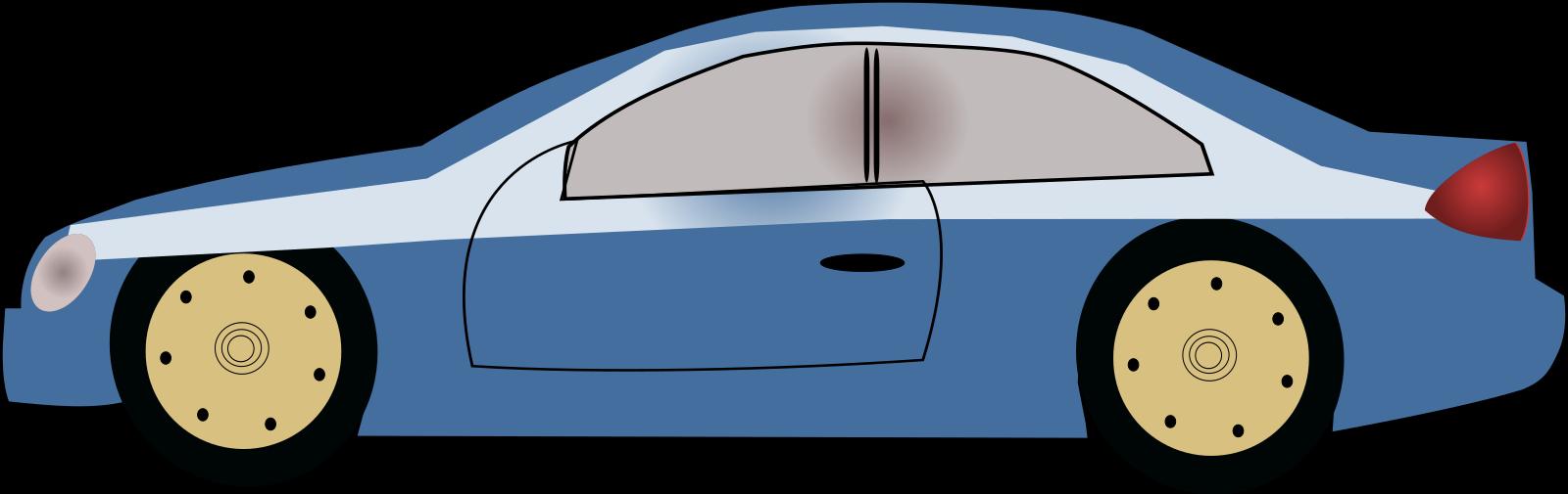 Blue Car SVG Clip arts