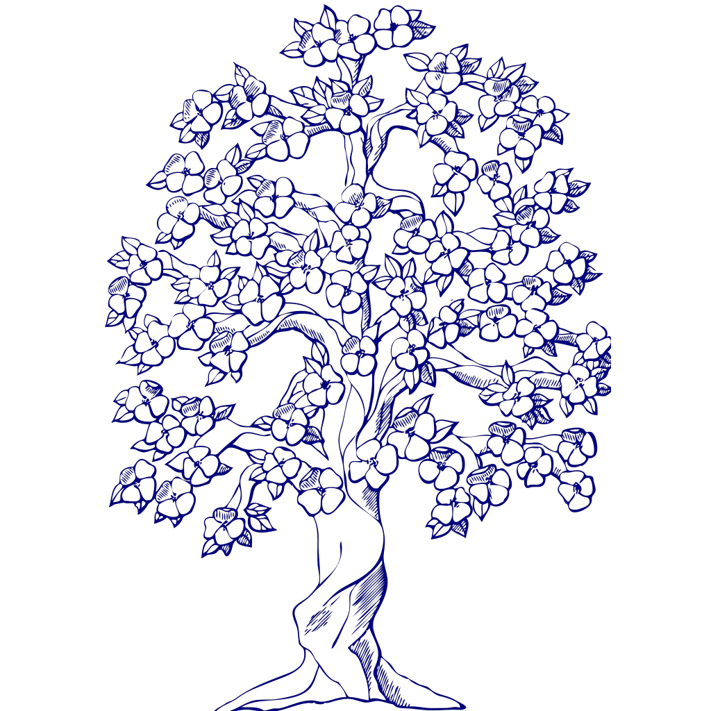 Blue Tree SVG Clip arts
