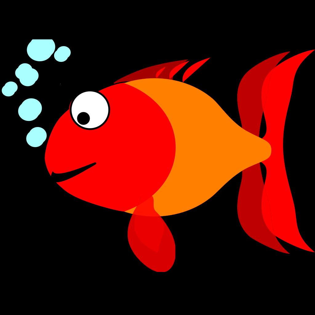 Light Blue Happy Fish SVG Clip arts