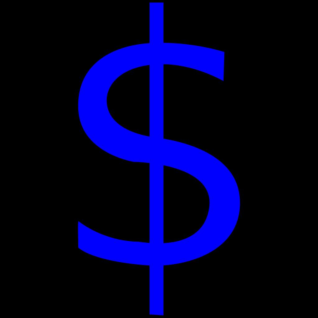 Blue $ Sign SVG Clip arts