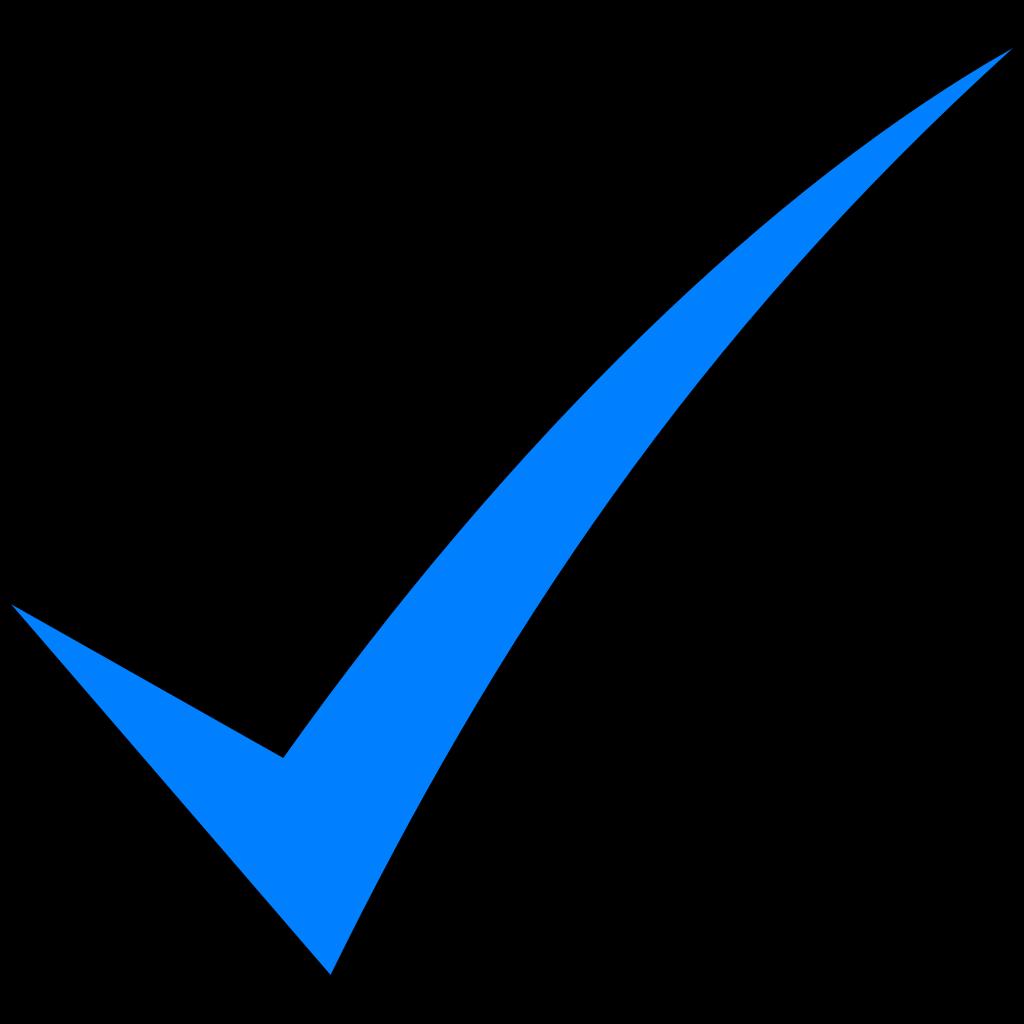 Blue Check Mark PNG, SVG Clip art for Web - Download Clip ...