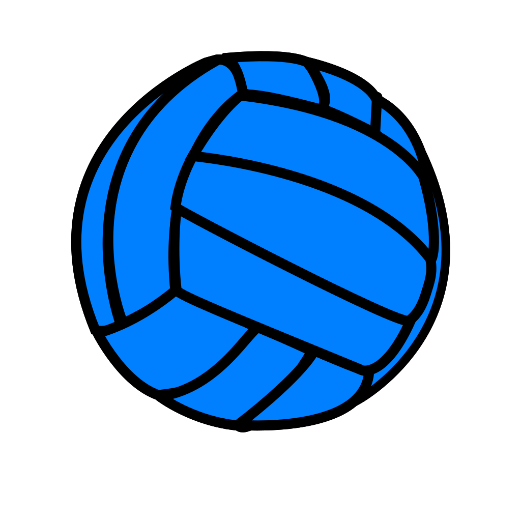 Blue Volleyball SVG Clip arts