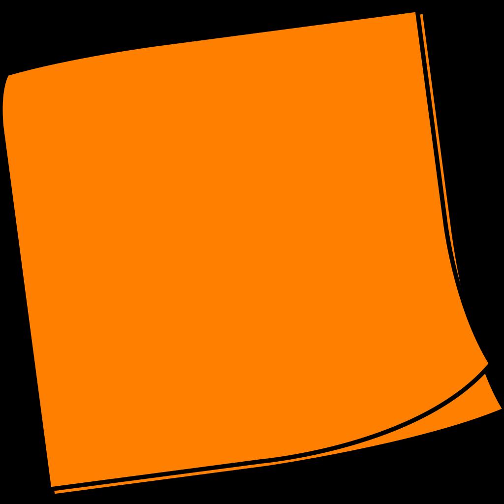 Shaded Blue Orange Sticky Note SVG Clip arts