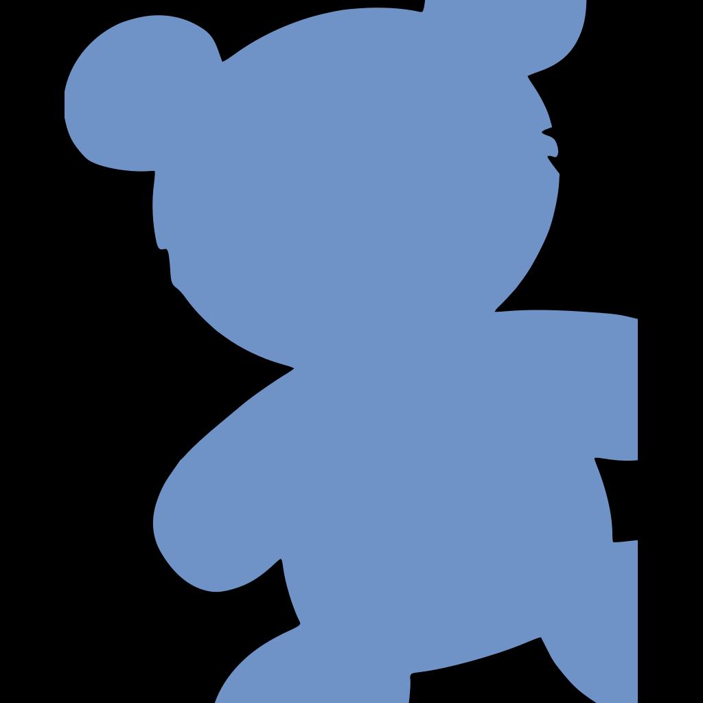 Baby Blue Bear SVG Clip arts