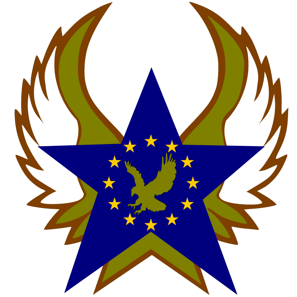 Blue Star With Gold Stars And Eagle SVG Clip arts