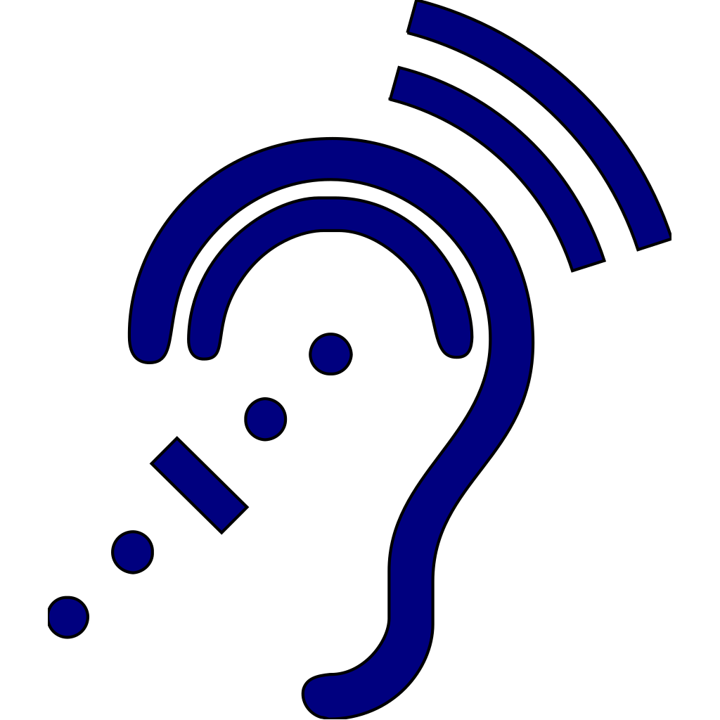 Hearing Assistive Technology - Blue Icon SVG Clip arts