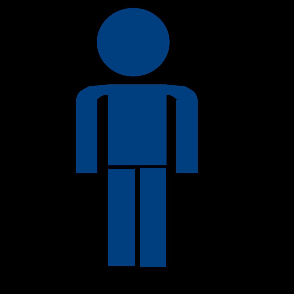 Man Sign Blue SVG Clip arts