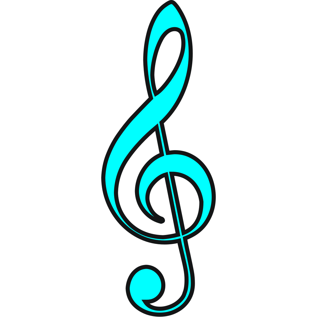 Funny Music Note SVG Clip arts