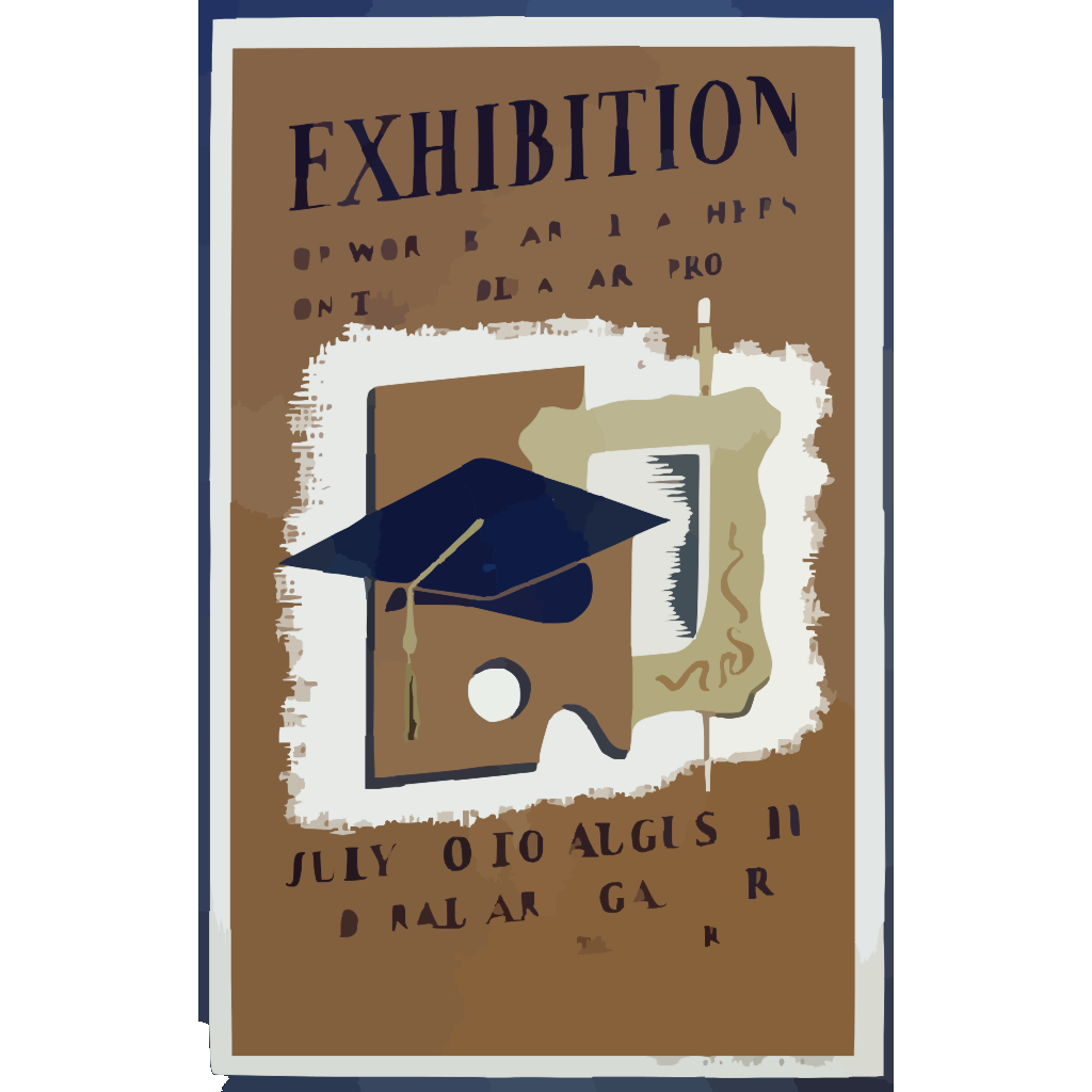 Exhibition Of Work By Art Teachers On The Federal Art Project SVG Clip arts