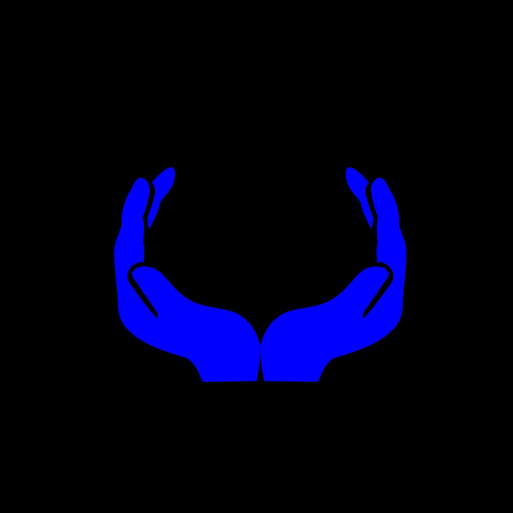 Blue Hands SVG Clip arts