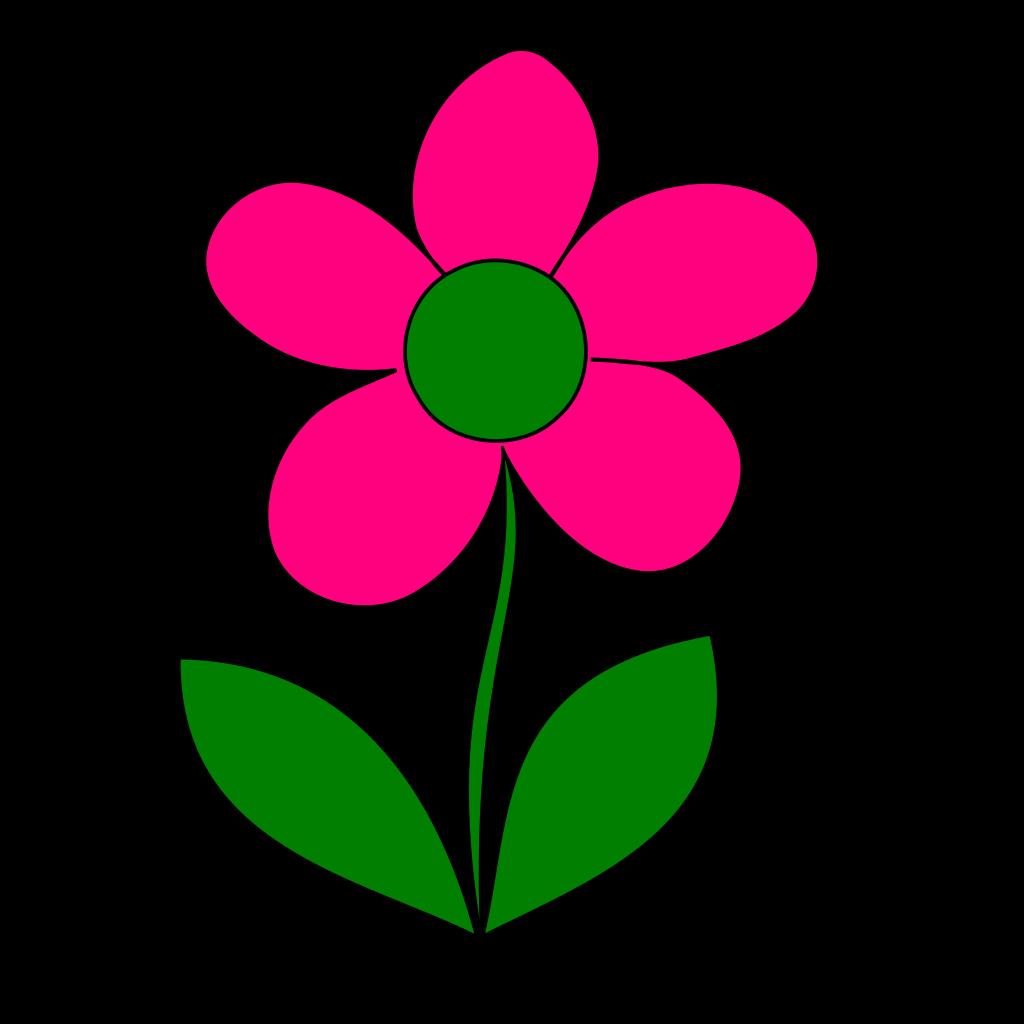 Pink Blue Flower Border SVG Clip arts