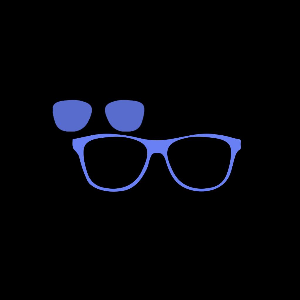 Blue Glasses Owl SVG Clip arts