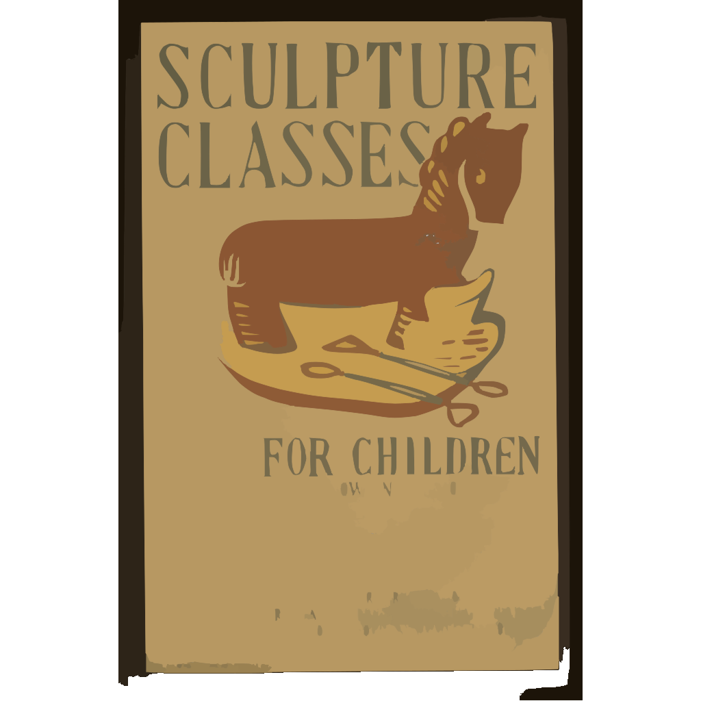 Sculpture Classes For Children Now In Session Under Direction Of Art Teaching Division, Federal Art Project, Works Progress Administration. SVG Clip arts