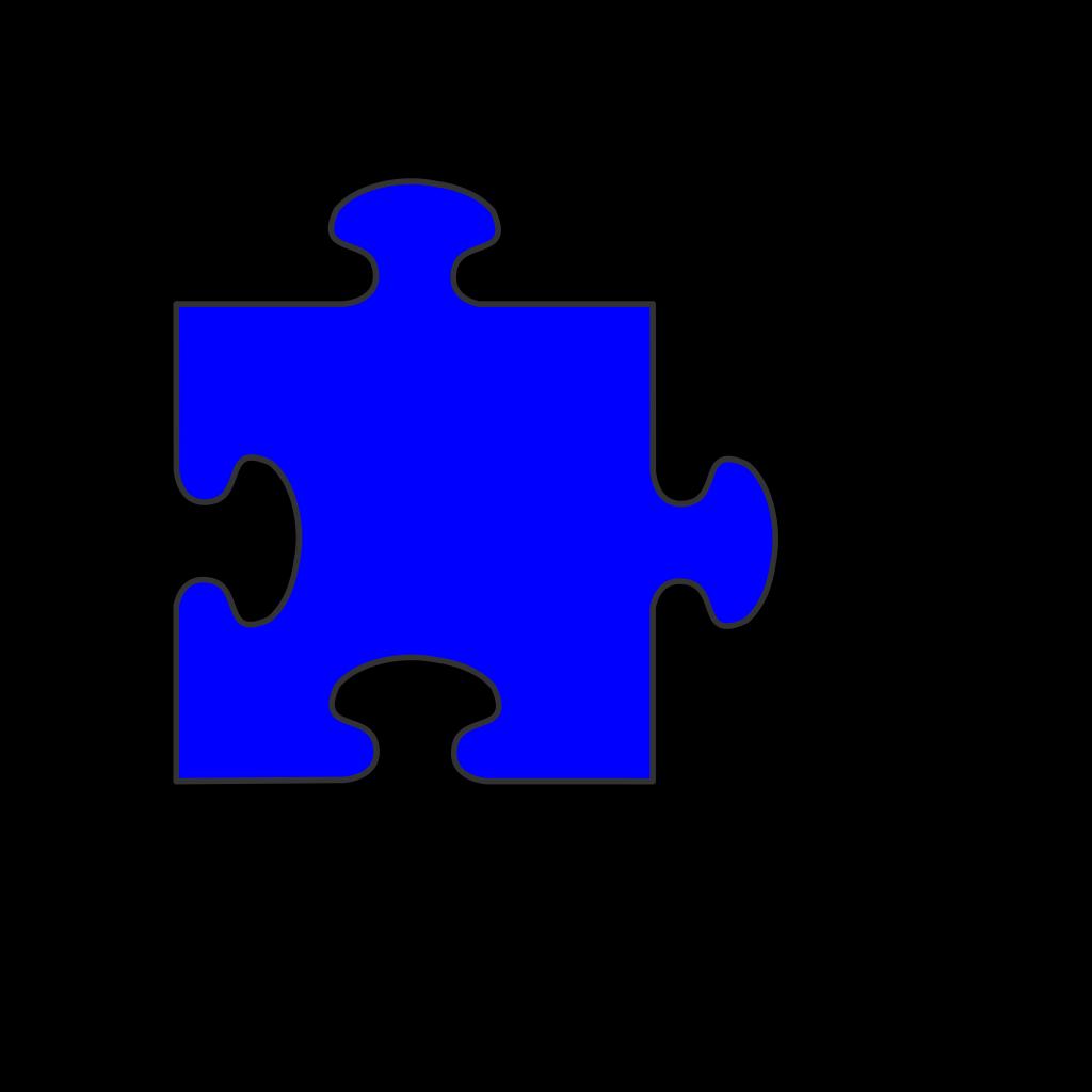 Blue Border Puzzle Piece Top-blue Fill SVG Clip arts