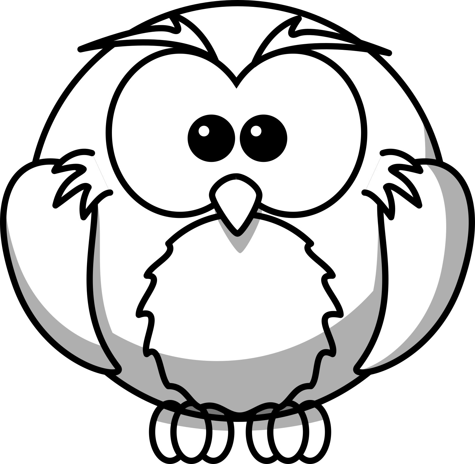 Dreamy Blue Owl SVG Clip arts