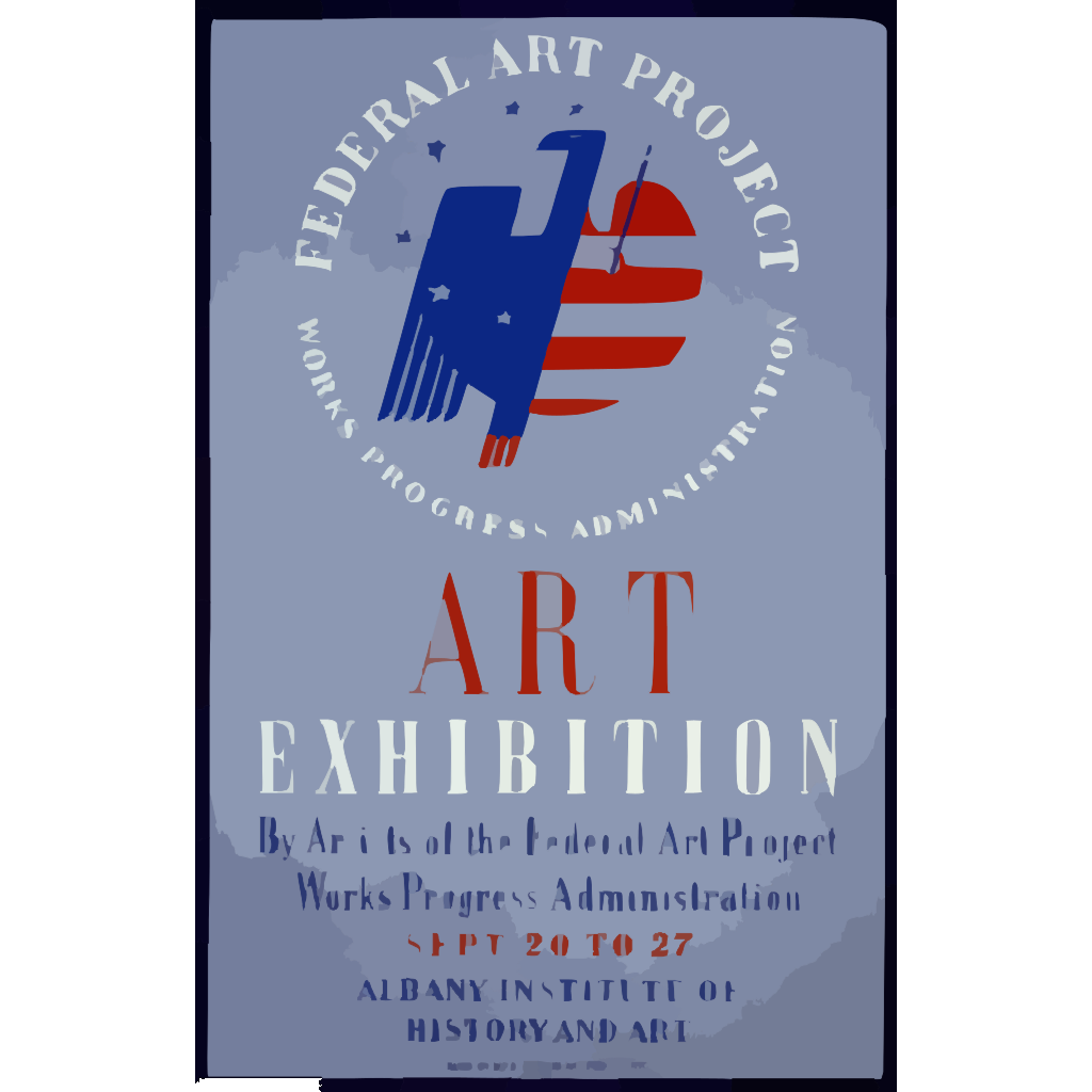 Federal Art Project, Works Progress Administration Art Exhibition By Artists Of The Federal Art Project ... [at The] Albany Institute Of History And Art SVG Clip arts