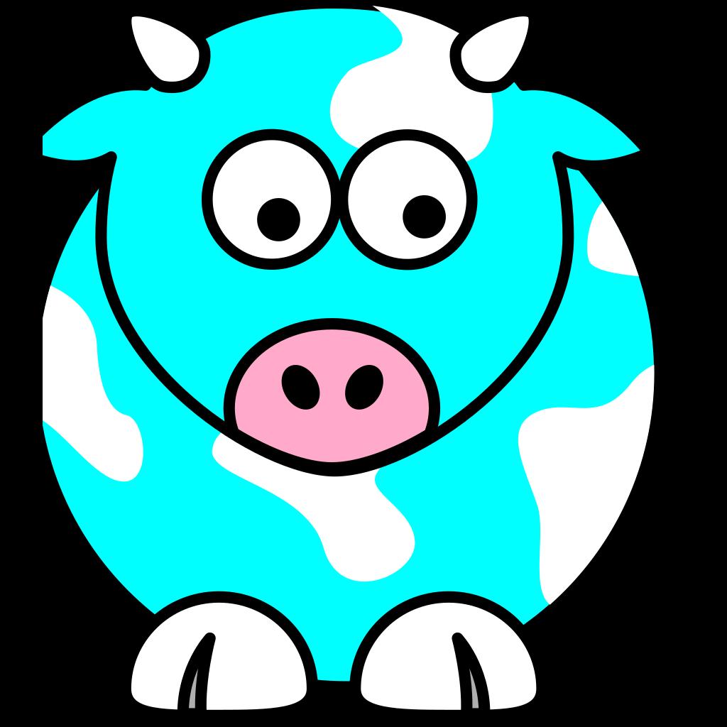Blue Cow SVG Clip arts